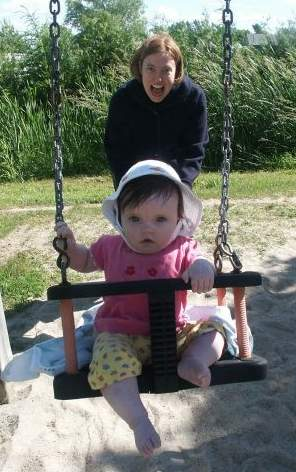 This is new...me on a swing!